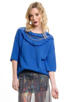 Sweater+Save+-+Azul en DeluxeBuys!