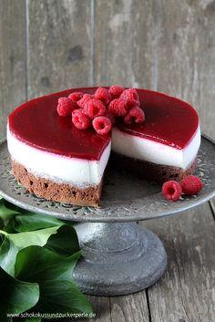 Himbeer-Panna Cotta-Torte - Wir feiern 5. Bloggeburtstag • Schokokuss und Zuckerperle