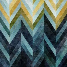 Indigo tones and geometric patterns. HomeDecorators.com