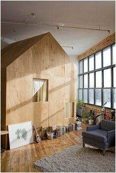 cabin in a loft, redesign, architecture, brooklyn, design squish blog