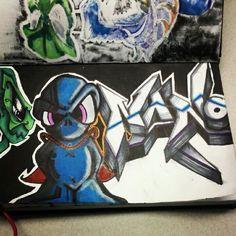 Alien, superman, costume, nano, graffiti, art, blackbook