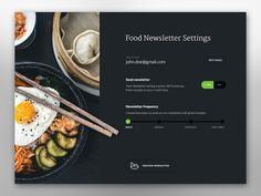 Food Newsletter by Tomas Jerabek