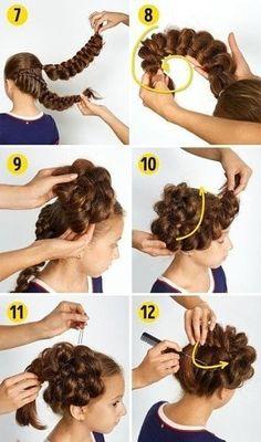 Easy Hairdo for School Easy Little Girl Hairstyles, Quick Hairstyles For School, Braided Hairstyles, School Braids, Medium Long, Anastasia, Hair Inspiration, Short Hair Styles, Dreadlocks