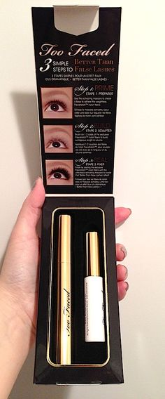 Makeup Review, Before/After Photos: Too Faced Better Than False Lashes Nylon Eye Lash Extension System