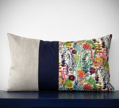 LIMITED EDITION: Abstract Floral Liberty Print Pillow by JillianReneDecor - Watercolor Flowers - Decorative Home Decor - Lumbar Pillow