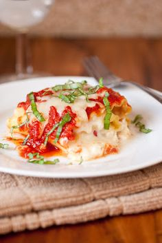 Caprese Lasagna Roll Ups! Sounds SO yummy! Recipe from Cooking Classy