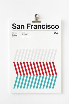 Minimalist Posters That Depict The Worlds Cities In Three Distinct Colors
