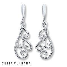 SOFIA VERGARA Earrings 1/6 ct tw Diamonds Sterling Silver