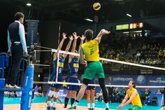 Oposto dá trabalho, mas Brasil volta a vencer a Austrália e segue na liderança #globoesporte