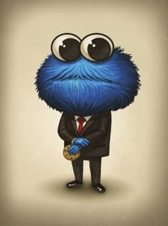 the cookie monster. its so cute xD