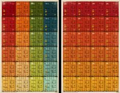 Shipping container color chart posters. I think I might need these.