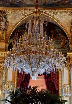 """stylishbeauty: """" Stunning Chandelier Grand Salon Napoleon III Musée du Louvre """""""