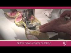 Nancy Zieman shows you techiniques for ruffled edges and gathering with her Baby Lock Evolution Serger!