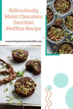 Everyone will be excited about breakfast once they've tried these make-ahead chocolate zucchini muffins! They are soooo decadently moist and delicious. #zucchinirecipes #muffinrecipes #makeaheadbreakfasts