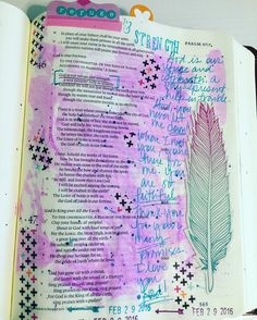 """Today's Bible journaling time focused on Psalm 46:1 which says """"God is our refuge and strength a very present help in trouble."""" Very present meaning 'always available'. This is talking about God's refuge and strength for Israel but it also applies to all of his children Jews and Gentiles alike. There is nothing (natural disaster chaos emotional turmoil loss etc) that will ever keep the Lord from being our refuge.  #illustratedfaith #Biblejournaling #biblejournalingcommunity #psalm46 by…"""