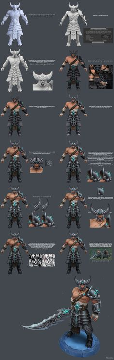 Tryndamere Texture Process by YBourykina on DeviantArt