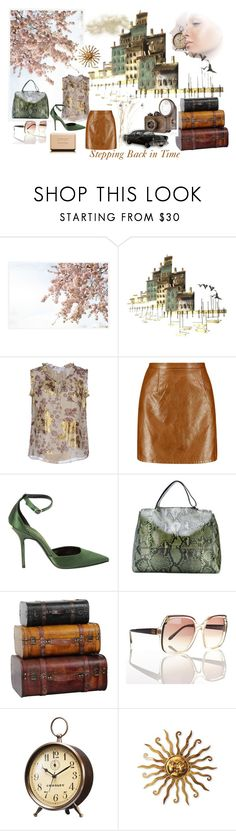 """Stepping Back in Time"" by suninvirgo ❤ liked on Polyvore featuring Pottery Barn, C. Jeré, Diane Von Furstenberg, Boohoo, Burberry, Orciani, Emilio Pucci, Crosley, Chanel and vintage"