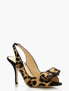 Have had sudden desire for animal print shoes. Kate Spade charm heels