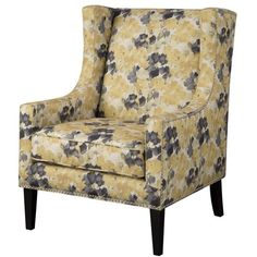 Kapelle Wingback Chair ($249) ❤ liked on Polyvore featuring home, furniture, chairs, birch wood furniture, birch furniture and birchwood furniture