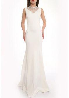 Elegante Abendmode Abendkleid Jasmin weiß