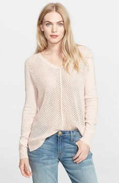 Rebecca Taylor Mesh Knit Sweater available at #Nordstrom