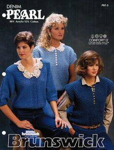 Denim Pearl Sweaters  Brunswick Yarns, 1977