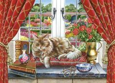 Cat in Window (192 pieces)