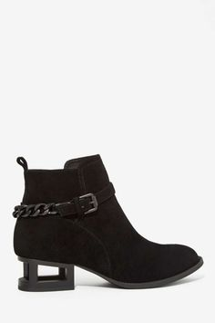 Black Axel Suede Ankle Boot