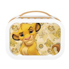 Lion King Simba on Triangle Pattern Lunch Box , Lion King Nursery, Lion King Simba, Disney Lion King, Disney Lunch Box, Lion King Images, Lunch Box Set, Disney Cards, School Lunch Box, Back To School Gifts