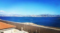 La vue depuis le pavillon du Chevalier Roze hôpital Caroline Frioul #Marseille #acta17