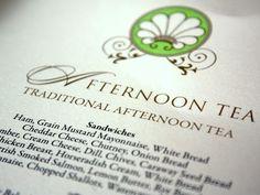 Afternoon Tea Menu at The Ritz