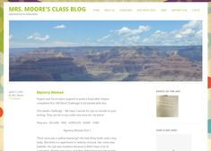 Mrs Moore's class blog is a grade 4 class from the USA.