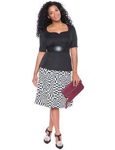Sweetheart Neckline Flare Top | Women's Plus Size Tops | ELOQUII