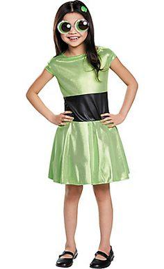 Girls Buttercup Costume - The Powerpuff Girls