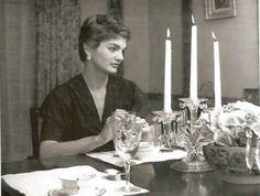 May 1954 - Jackie Kennedy during Jack's senatorial days, in Georgetown.