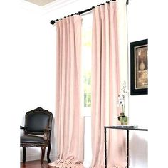 Shop for Exclusive Fabrics Signature Rose Petal Velvet Blackout Curtain Panel. Get free delivery On EVERYTHING* Overstock - Your Online Home Decor Outlet Store! Blush Velvet Curtains, Rose Gold Curtains, 108 Inch Curtains, Drapes Curtains, Drapery, Curtain Panels, Blush Bedroom, Bedroom Eyes, Bedrooms