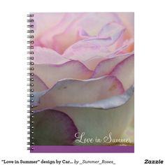 """""""Love in Summer"""" design by Carole Tomlinson Spiral Note Book"""