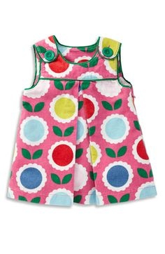 Free shipping and returns on Mini Boden 'Funky' Pinafore (Toddler) at Nordstrom.com. Stylized blossoms brighten a sweet corduroy jumper trimmed with contrast piping and bold buttons at the shoulders. A deep inverted pleat at the center front offers a loose, easy fit.