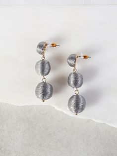 Shop Threaded Ball Earrings GREY online. SheIn offers Threaded Ball Earrings GREY & more to fit your fashionable needs.
