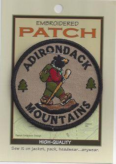 Souvenir Patch Hike The Adirondacks New York State Adirondack Bear | eBay