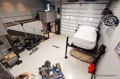 great use of storage space in this garage!