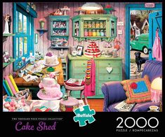 Buffalo Games Cake Shed 2000 Piece Jigsaw Puzzle 2000 Piece Puzzle, Puzzle Pieces, 1000 Piece Jigsaw Puzzles, Jigsaw Puzzle Table, Puzzle Shop, Puzzle Art, Puzzle Toys, Puzzle Board Games, Frames