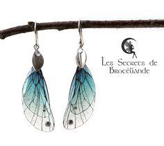Boucles féeriques résine plaqué Argent - Aerin - couleur turquoise - Cristaux Swarovski®