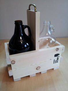 The Pallet Growler carrier made to hold and by circlecitygrowler
