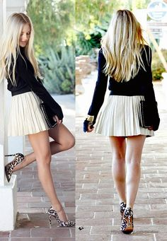 Cute Girl Outfits, Sexy Outfits, Sexy Dresses, Fashion Outfits, Cute Skirts, Mini Skirts, Secretary Outfits, Sexy Legs And Heels, Estilo Fashion
