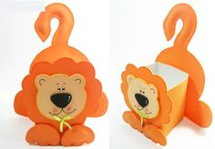 eva sunger kagit ve sut kutusu ile aslan gorunumlu kutu yapimi (5)
