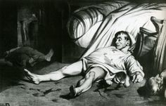 "EDITORIAL CARTOON: Daumier published ""Rue Transnonain"", April 15, 1834, in the journal Association Mensuelle (20.23). Though Daumier did not witness the event portrayed—the violent suppression of a workers' demonstration—the work is unsparing in its grim depiction of death and government brutality; Louis-Philippe ordered the destruction of all circulating prints immediately after its publication."