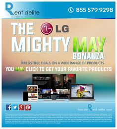 Fans of LG? So are we! Amazing deals on LG products!