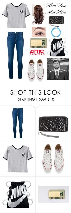 """""""How You Met Him [Zerkaa/Josh]"""" by learning-to-love ❤ liked on Polyvore featuring Frame Denim, Charlotte Russe, Chicnova Fashion, Converse, NIKE and In God We Trust"""