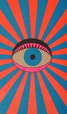 """The eye sun is watching you"" Illustration de l'artiste japonais Tadanori Yokoo Art Inspo, Kunst Inspo, Inspiration Art, Art Pop, Psychedelic Art, Art And Illustration, Tadanori Yokoo, Graffiti, Grafik Design"